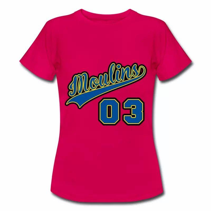 T Shirt Auvergne rubis femmes Moulins département 03