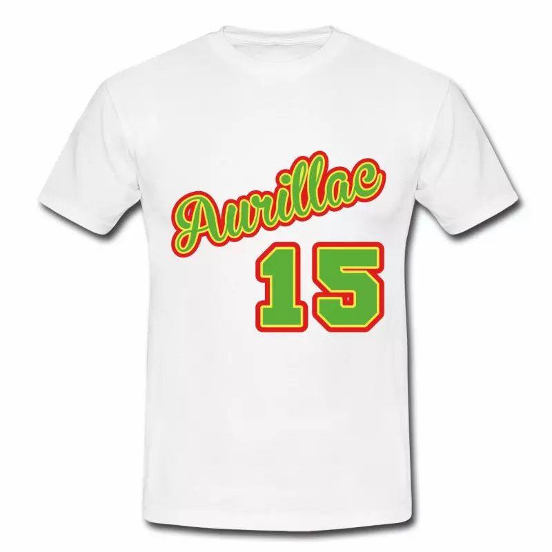 T Shirt Auvergne blanc hommes Aurillac département 15