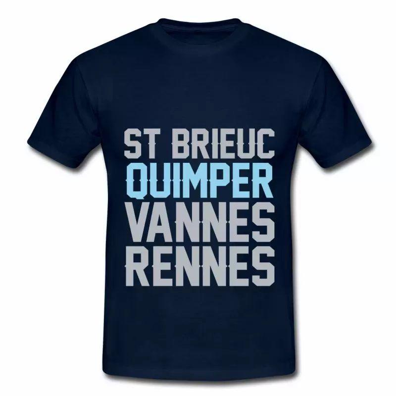 T Shirt Bretagne bleu m hommes Quimper