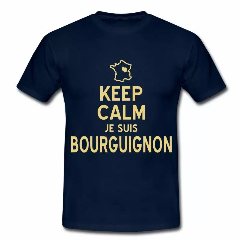 T Shirt Bourgogne Keep Calm je suis Bourguignon HBM