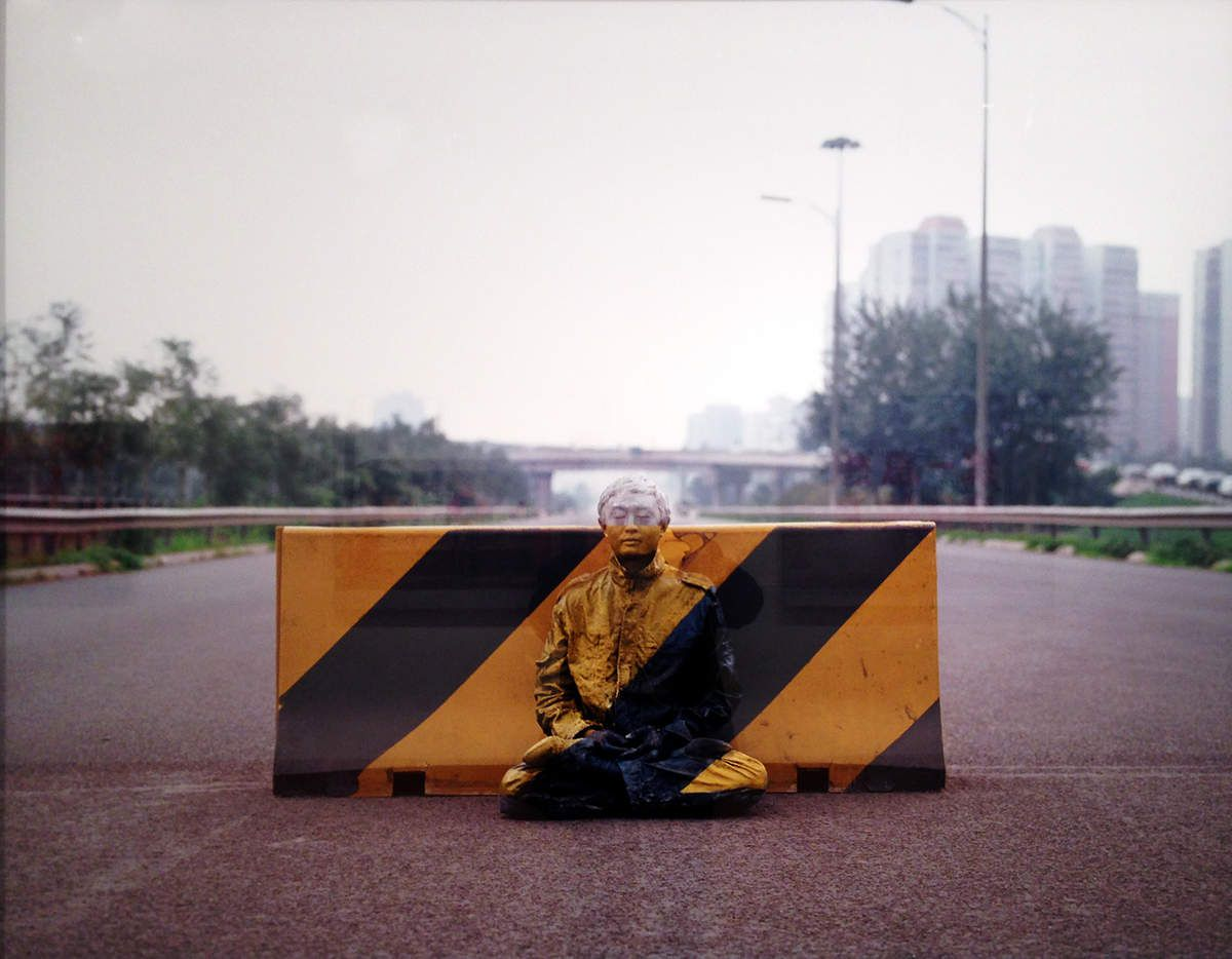 Road block - © Liu Bolin