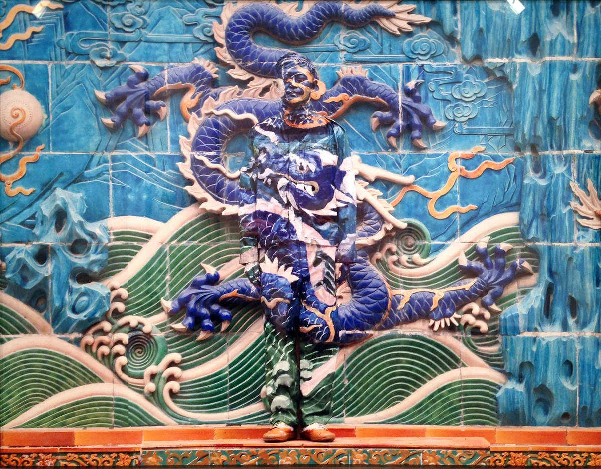 Nine dragon screen - © Liu Bolin