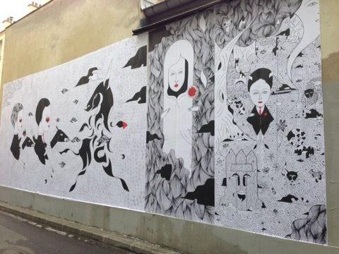 Les fresques 1 & 2 réunies - © Fred le Chevalier