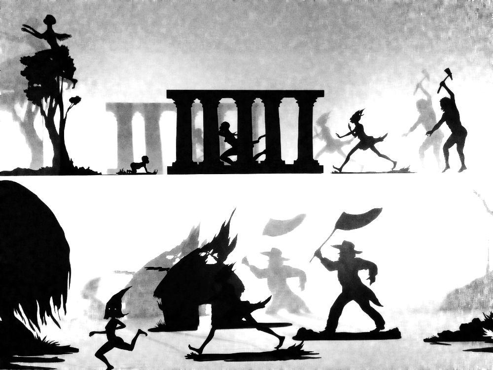 Burning African Village Play Set with Big House and Lynching (détail) - © Kara Walker