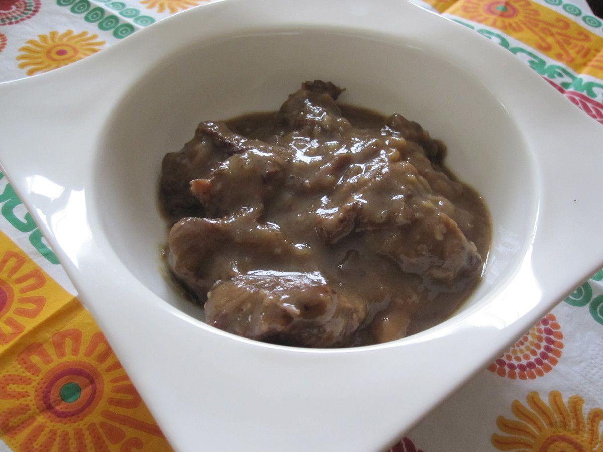 Boeuf sauce aux spéculoos