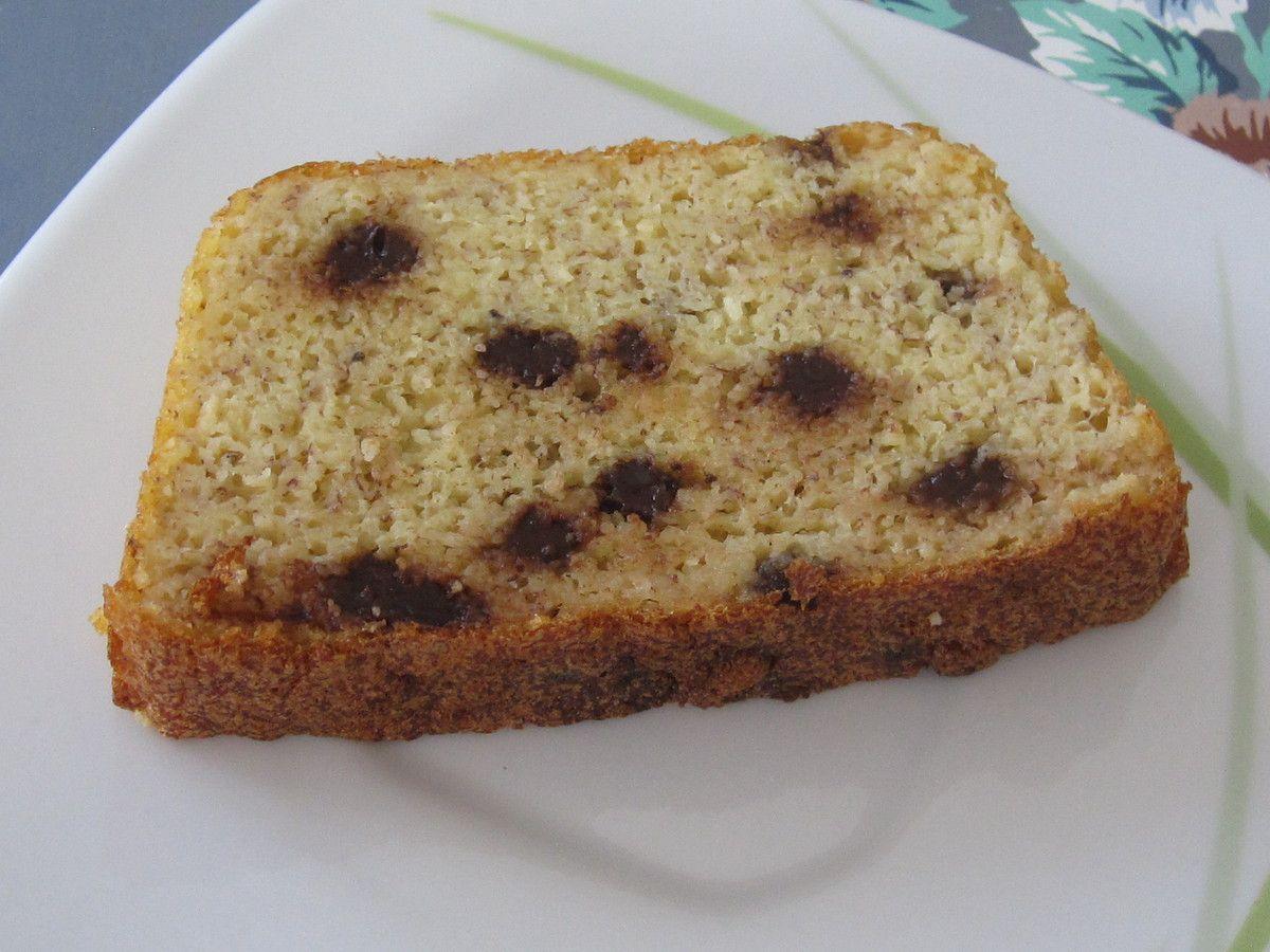 """Cake """"bananou""""aux pépites de chocolat"""