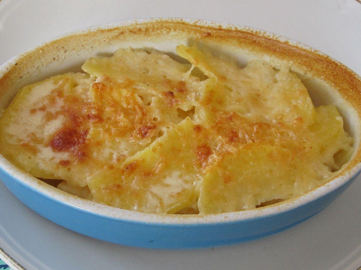 gratin de pommes de terre aux deux fromages