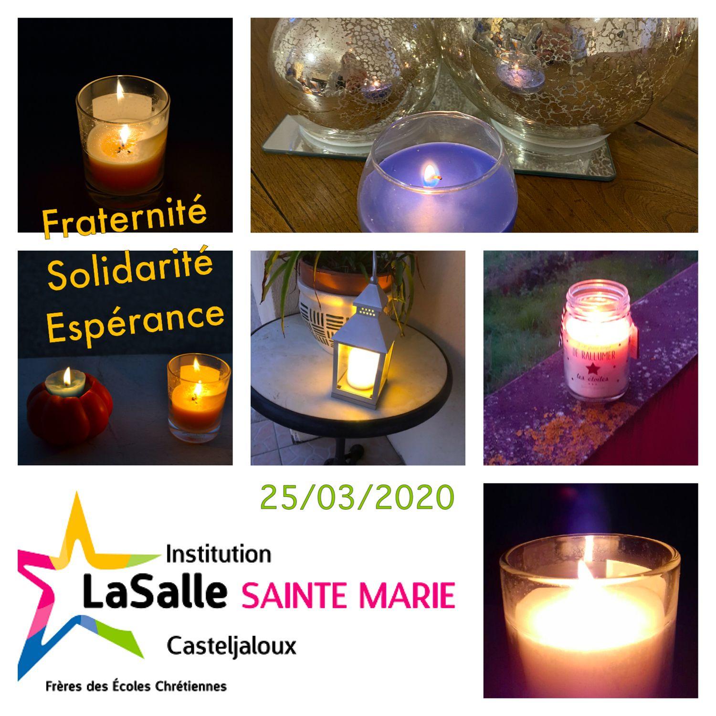 Des bougies aux fenêtres le 25 mars, merci à tous !