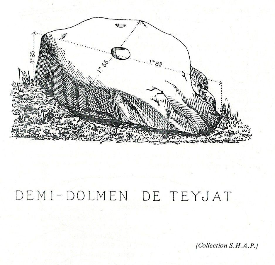 Tiré de Dolmens et menhirs du Périgord de Frank Benalloul