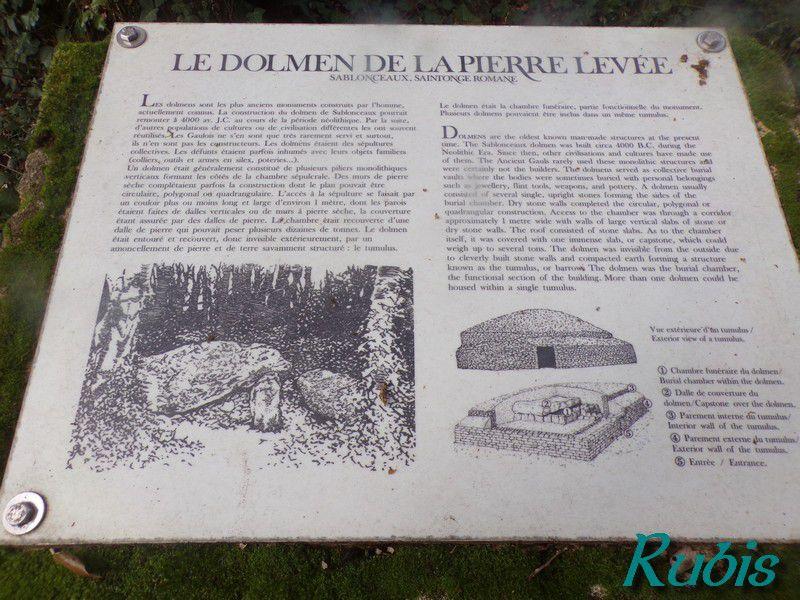 Dolmen de la Pierre Levée de Berthegille ou de Berthegrille, Sablonceaux