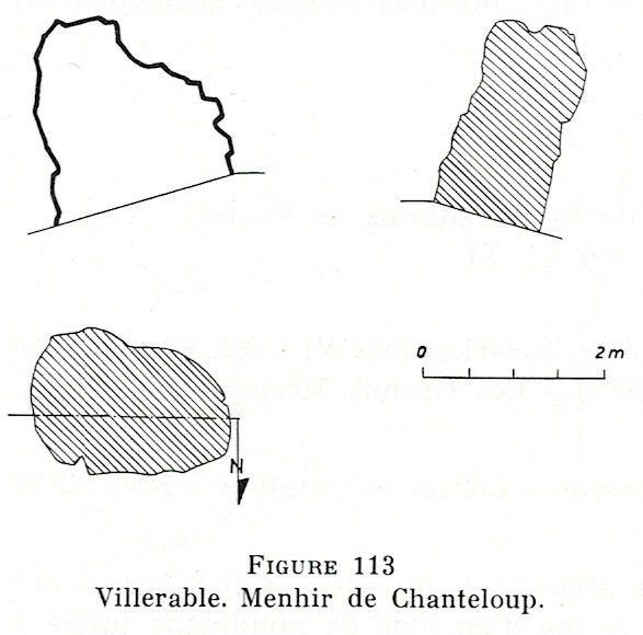 Scanné de l'inventaire des mégalithes de la France 3-Loir-et-Cher par Jackie Despriée et Claude Leymarios.