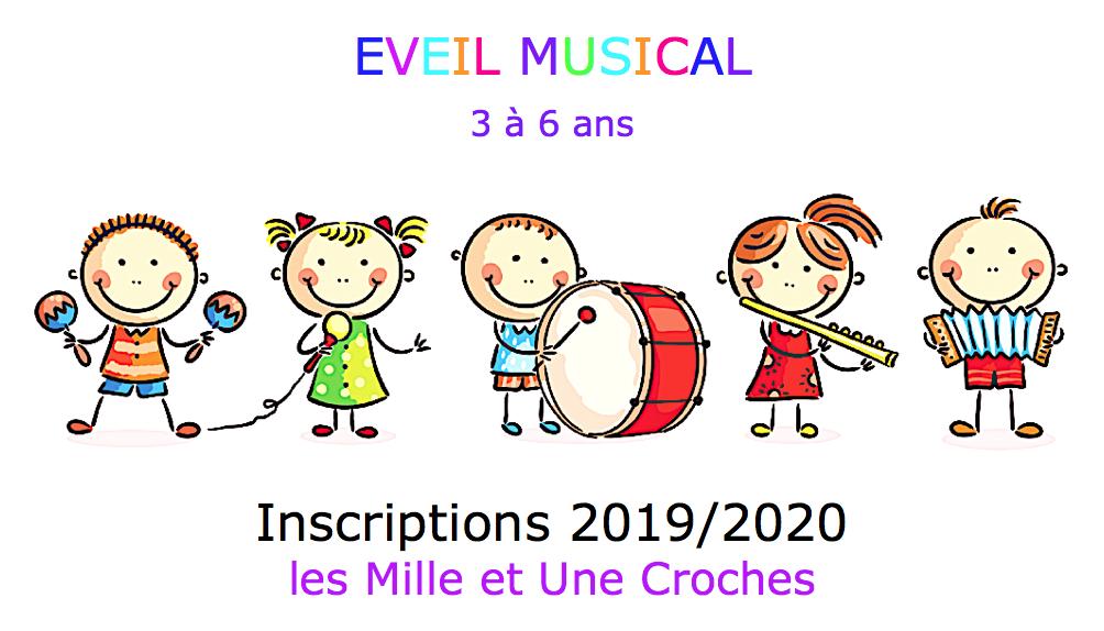 inscription éveil musical année 2019-2020