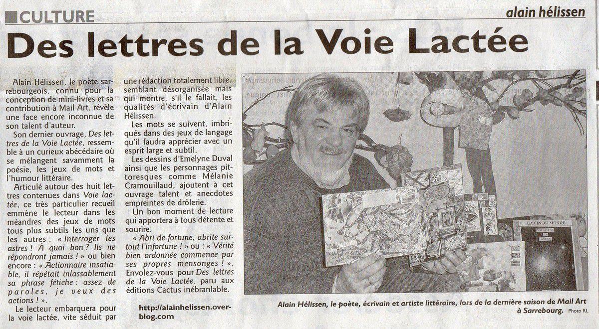 """scan de l'article rédigé par Alain Jouanneau pour le quotidien régional """"Le Républicain Lorrain"""""""