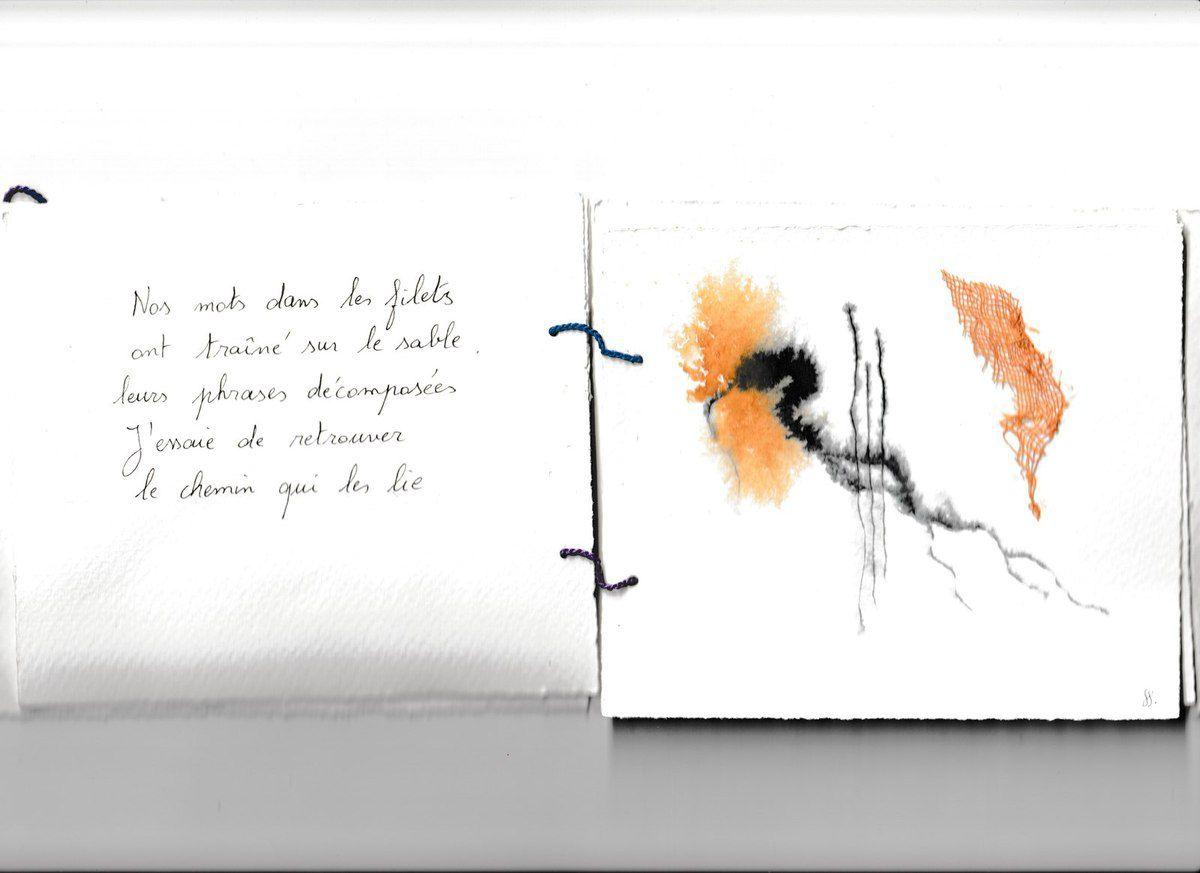 FIL-ET, livre d'artiste avec Geneviève Guiguet