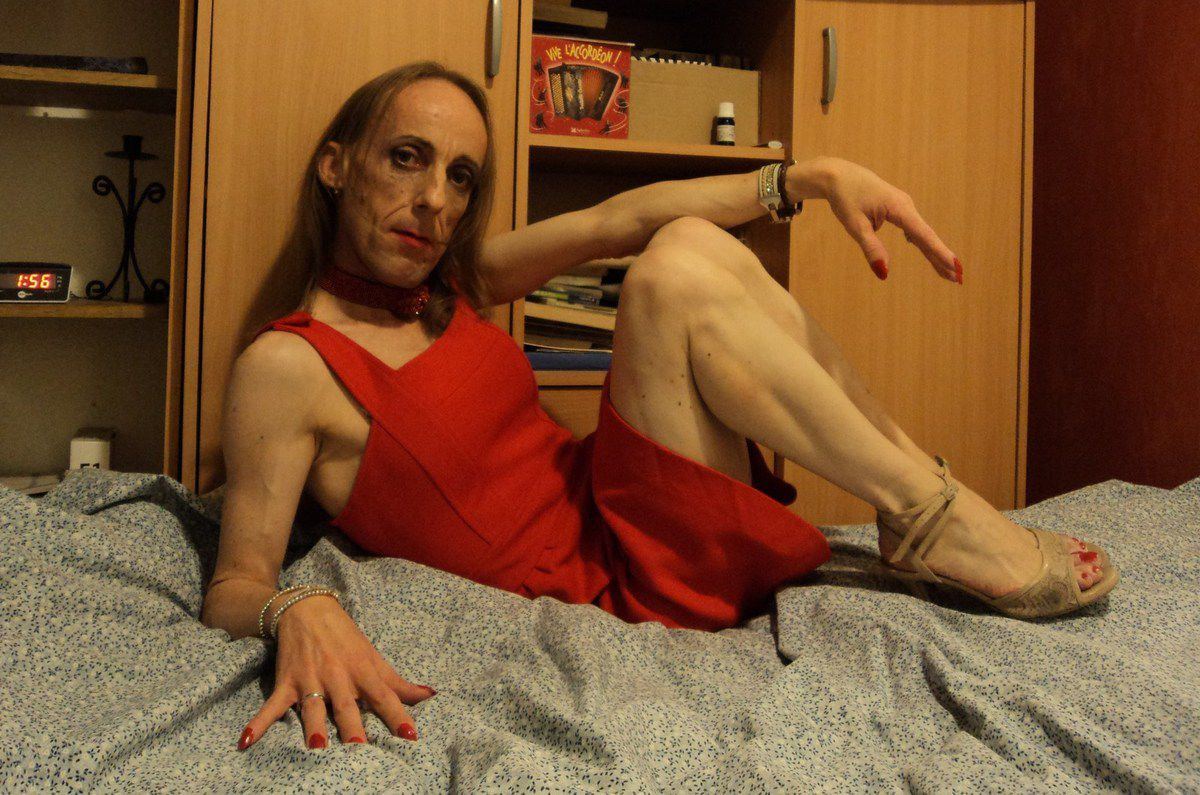 Little thin transgender. Gay mag french ladyboy life style t-girl lover in the south of France. Red dress stiletto heel