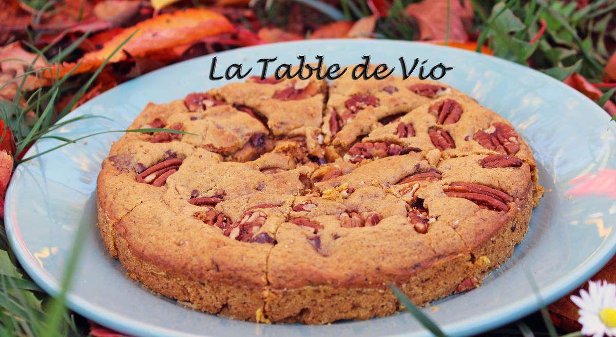 Cookie pie au potiron et noix de pécan