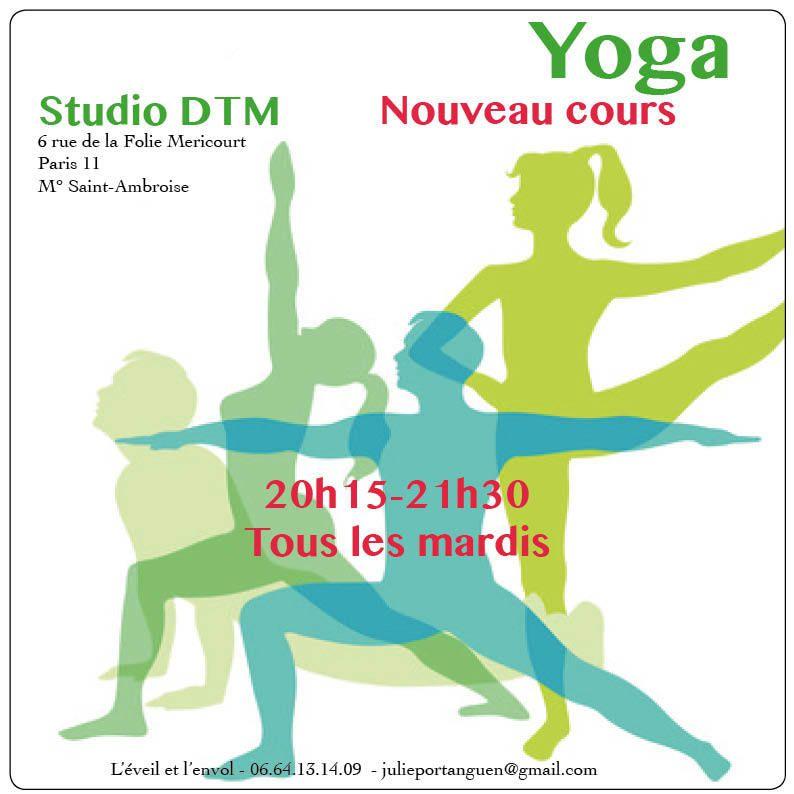 Nouveau cours de yoga le mardi soir