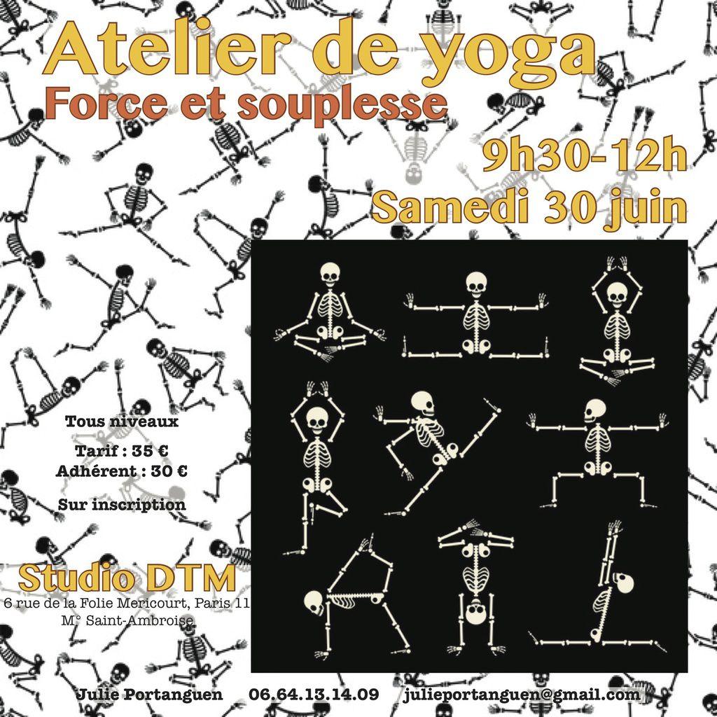 Atelier Yoga du 30 juin : Force et Souplesse
