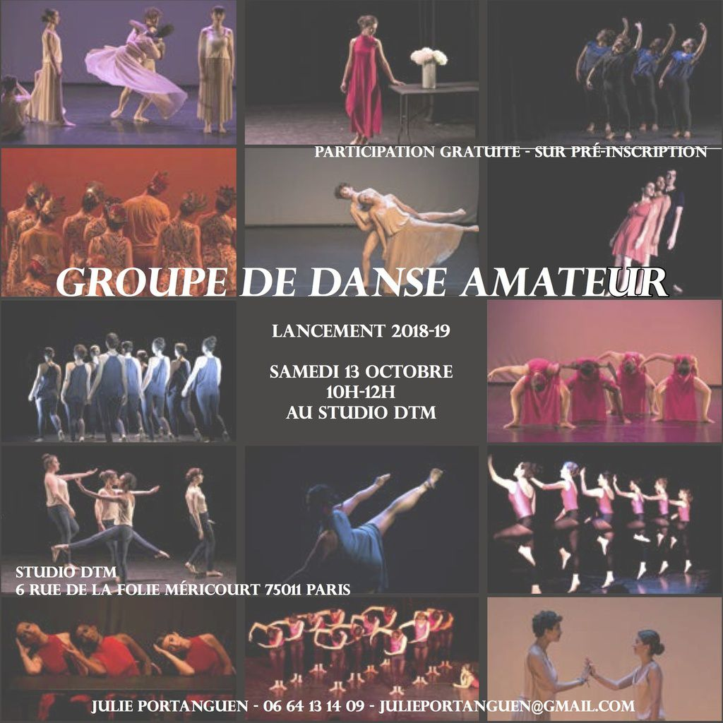 Compagnie amateur de danse contemporaine Paris Julie Portanguen