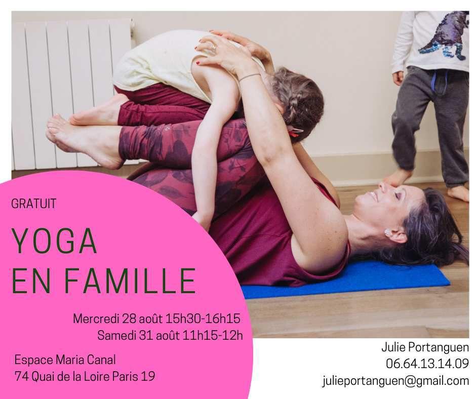 Stage de yoga enfants et ados fin août 2019
