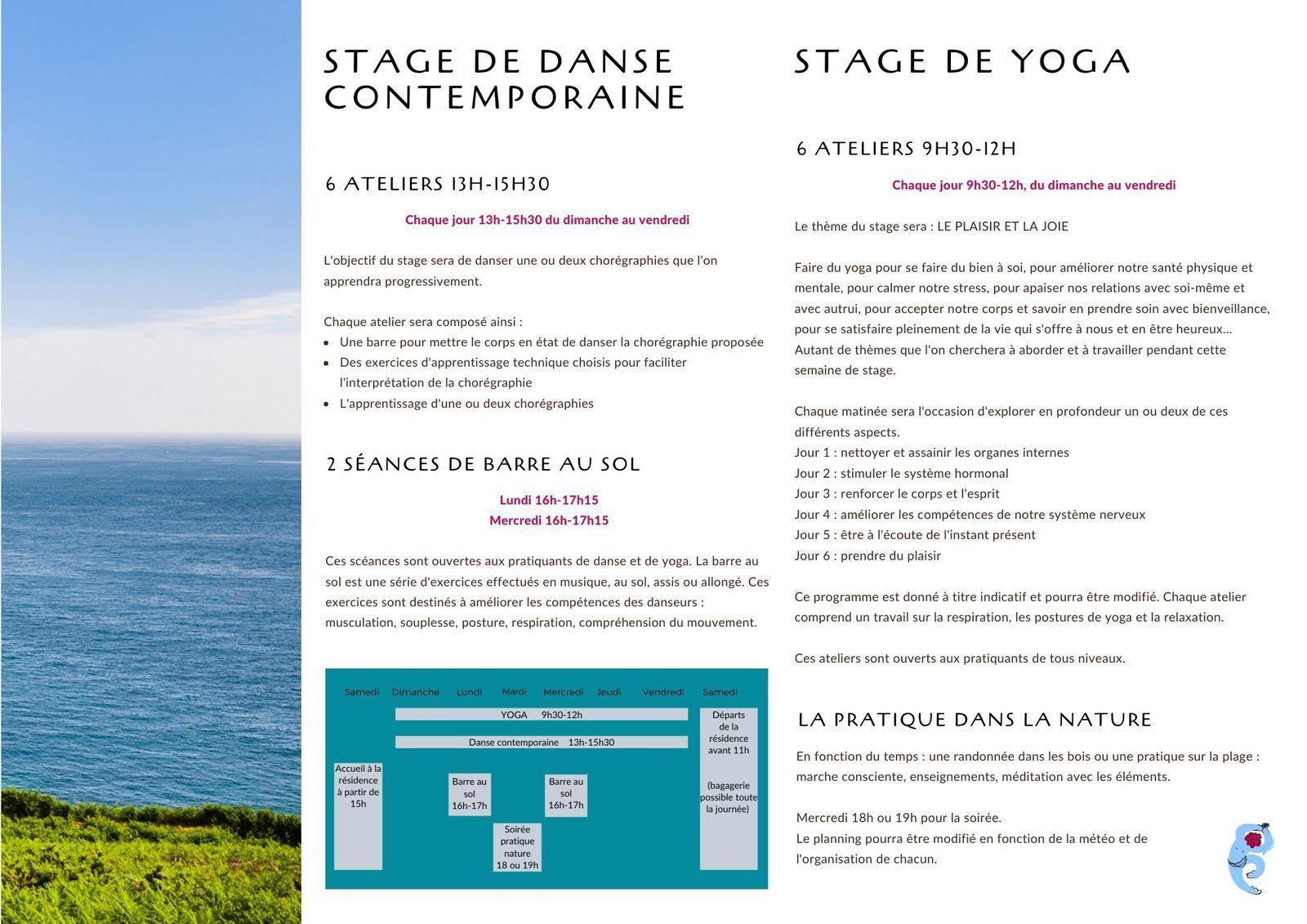 Stage d'été en Bretagne - Juillet 2020