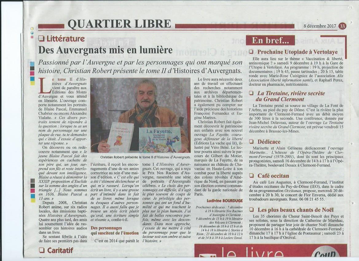 1 ARTICLES DE PRESSE SUR LES LIVRES