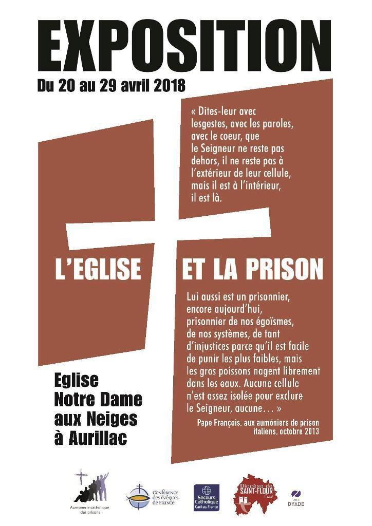 """INVITATION à L'EXPOSITION """"L'Eglise et la Prison"""""""