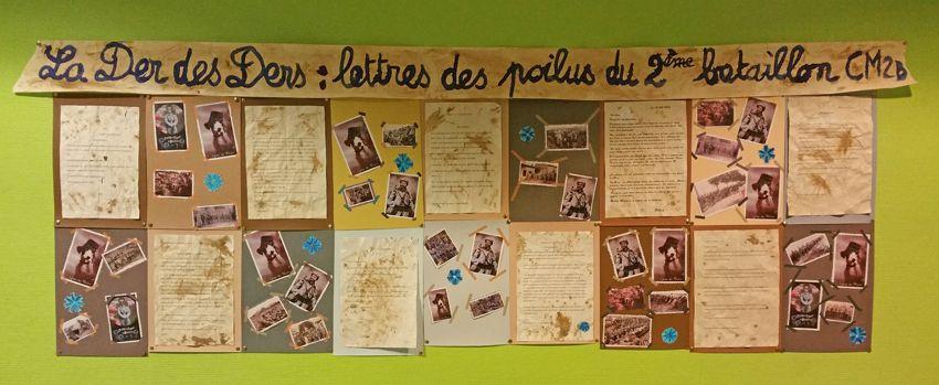 La Der des Ders... Lettres des poilus du 6ème bataillon des CM2.