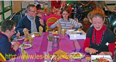 Le déjeuner de Noël, mardi 16 décembre.