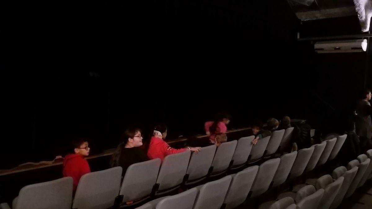 Les C.M.2 au théâtre de la Clarté avec Pierre et le loup...