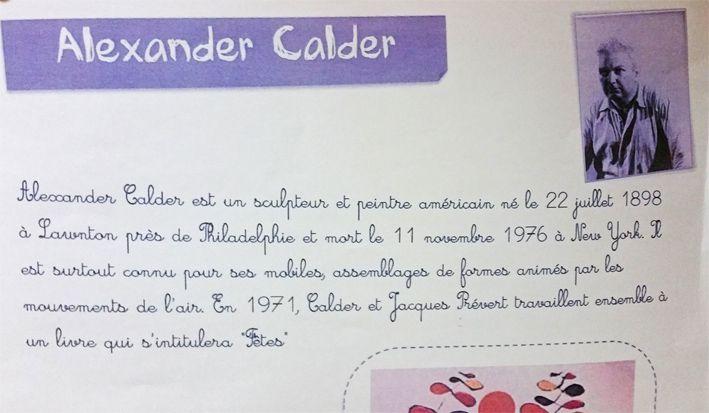 À la manière de Calder