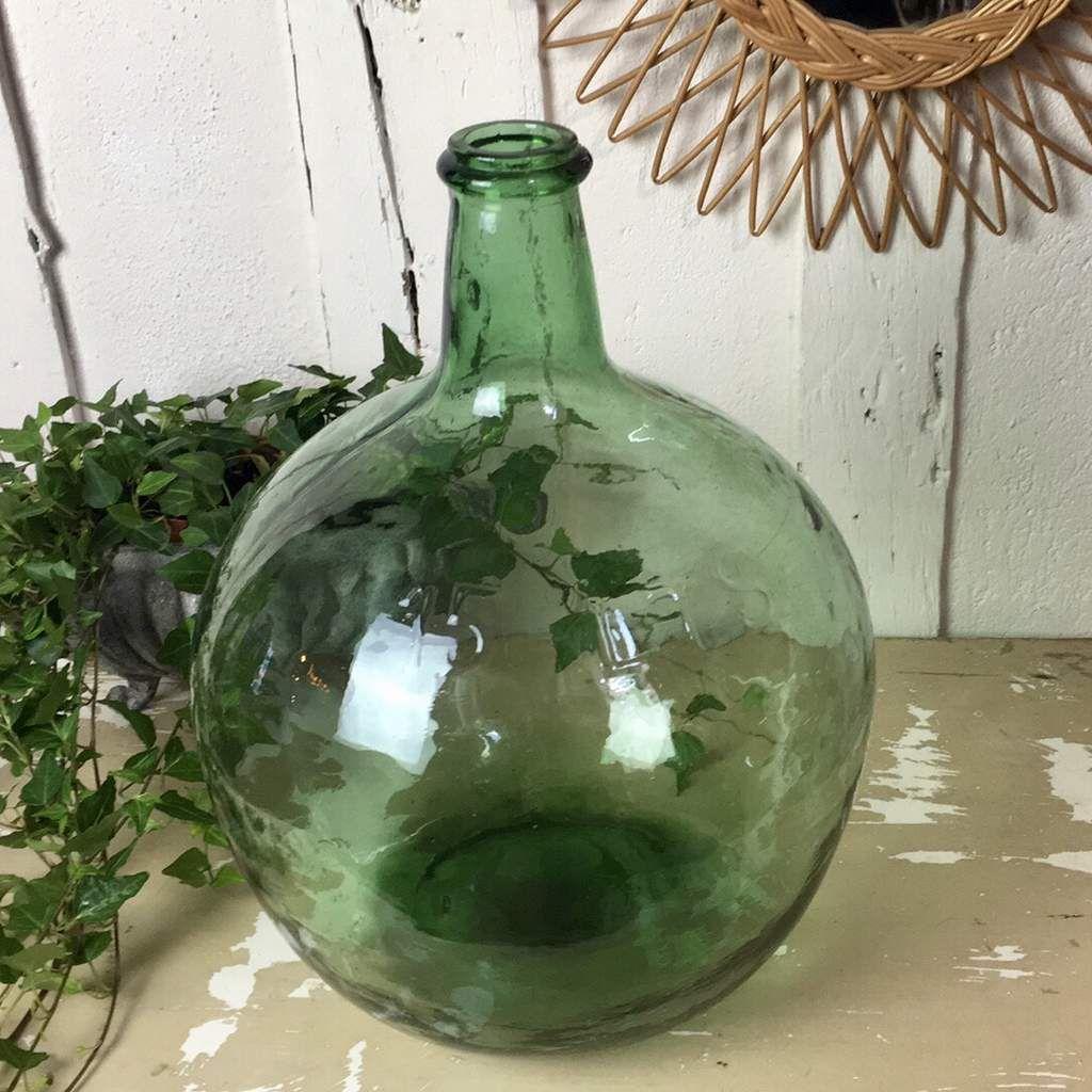 Dame Jeanne Forme Boule Verte Transparente