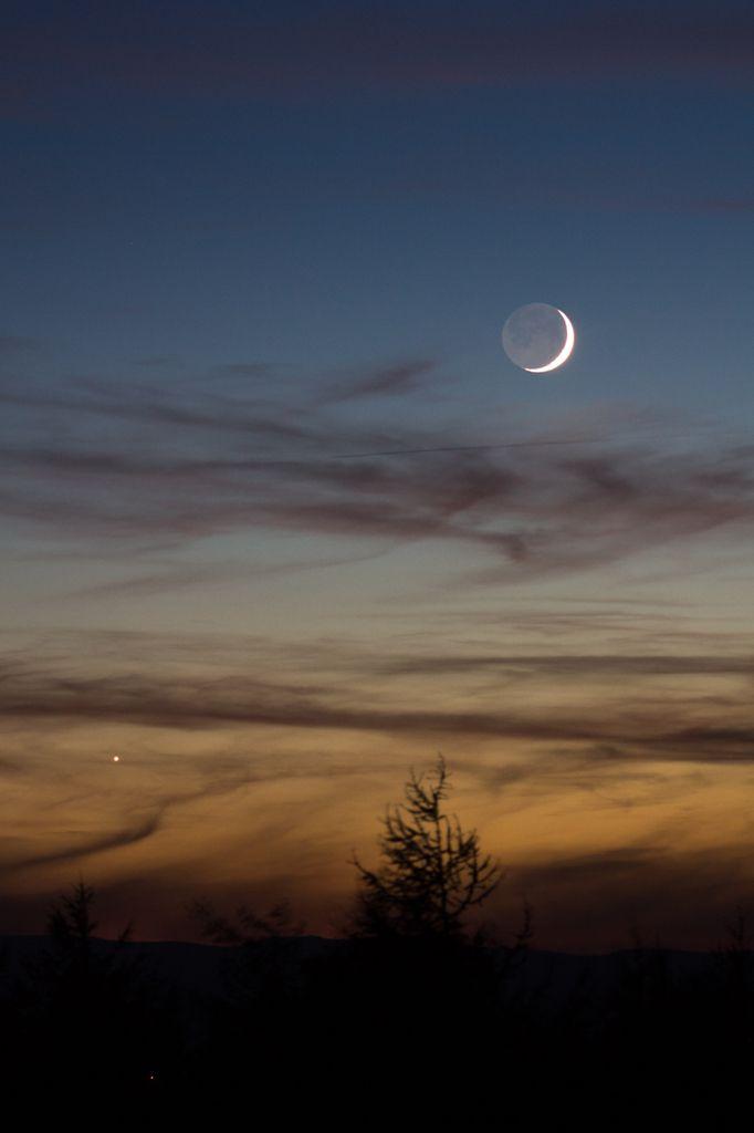 Coucher de lune à la tour matagrin