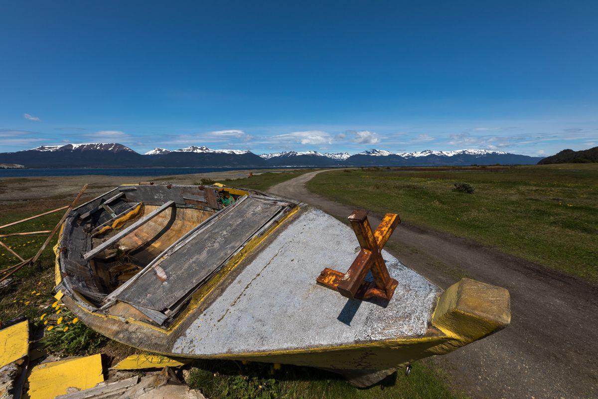 Ushuaia - castorera et petites îles du détroit