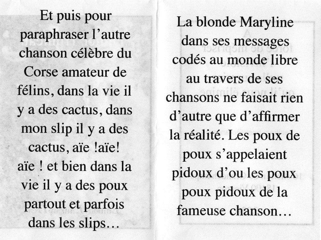 """""""Pou A le Fa"""" de notre ursidé Didier Trumeau"""
