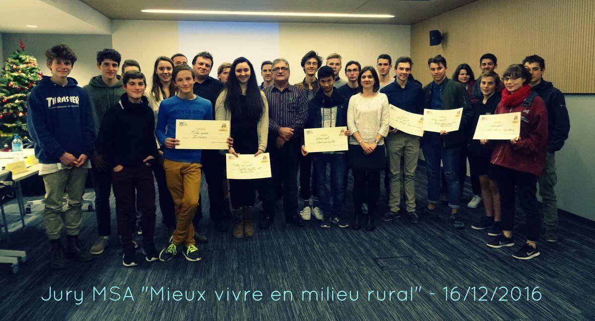Les jeunes nexonnais récompensés par la MSA de la Haute-Vienne pour Zikanex !