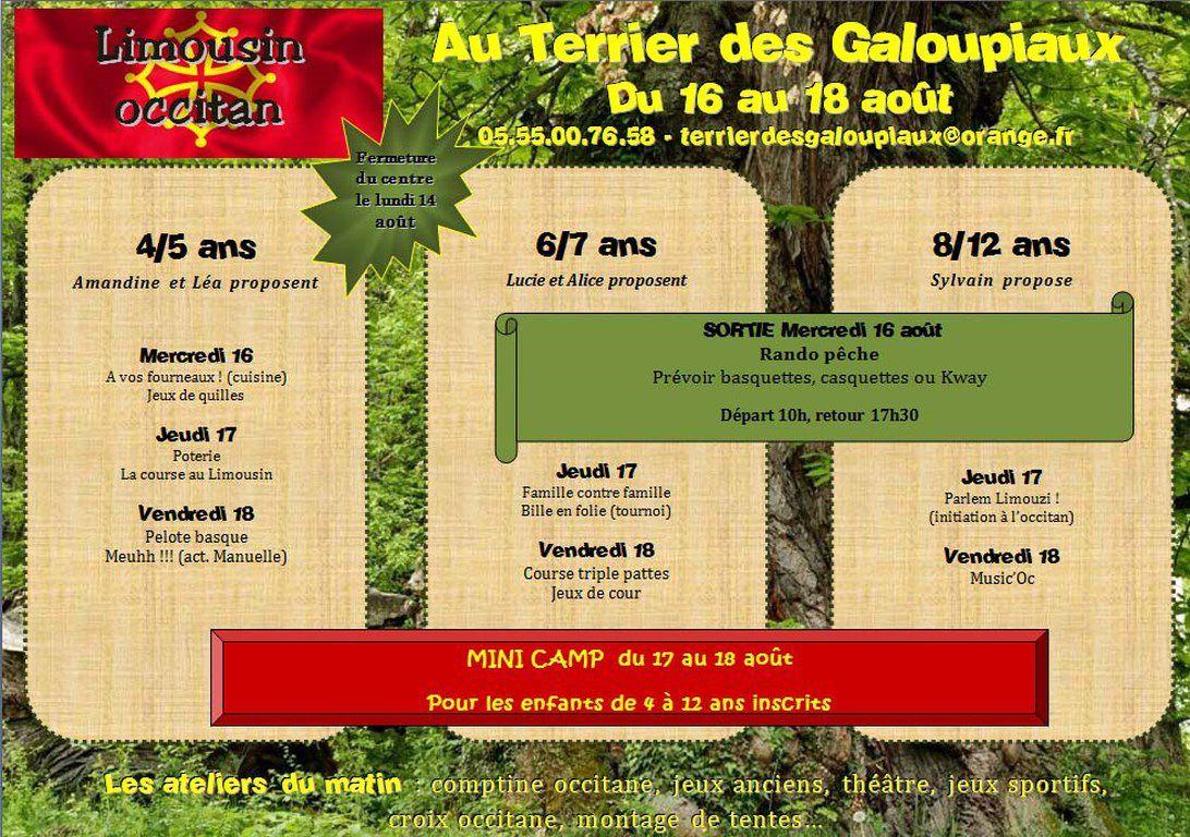 Semaine du 16 au 18 août : Limousin occitan