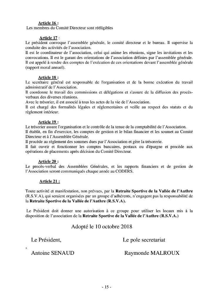 STATUTS - ANNEXES- REGLEMENT INTERIEUR 2018