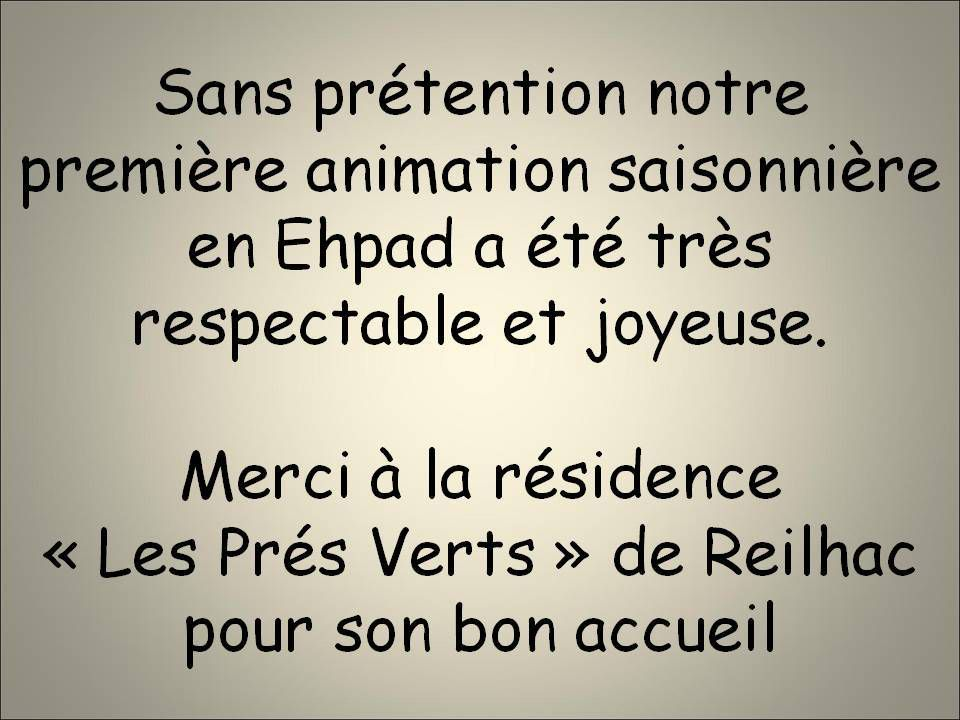 """DANSE ET GOÛTER DINATOIRE 19/12/218 - LES """"Prés Verts"""" REILHAC 20/12/2018"""