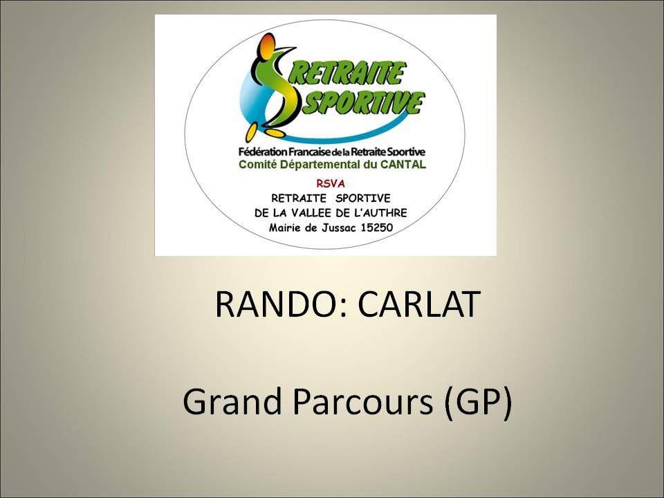 RANDOS: CARLAT 02/09/2019