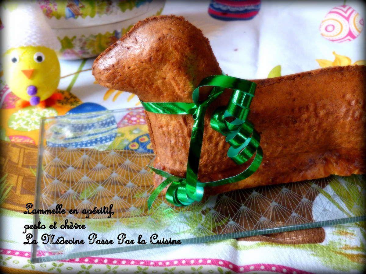 Lammele ou lamala en version salée au chèvre et pesto ou l'agneau de Pâques alsacien détourné