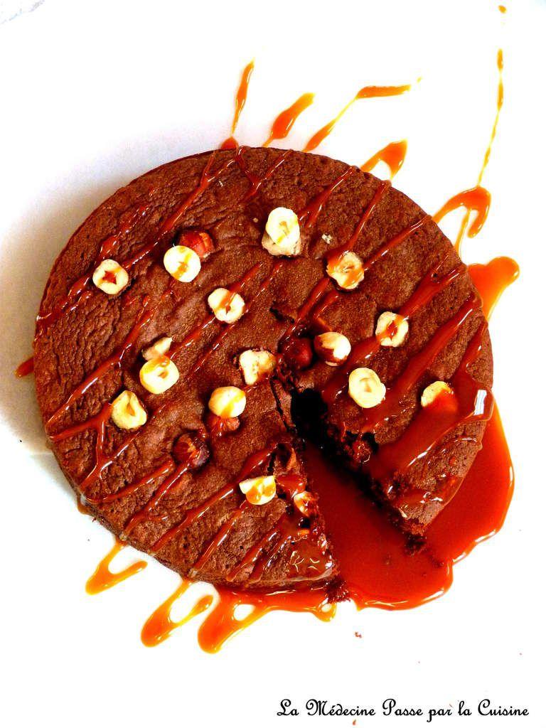 Brownie sans gluten chocolat et noisettes du Piémont
