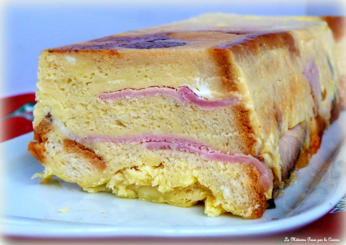Croque cake au reblochon et au jambon