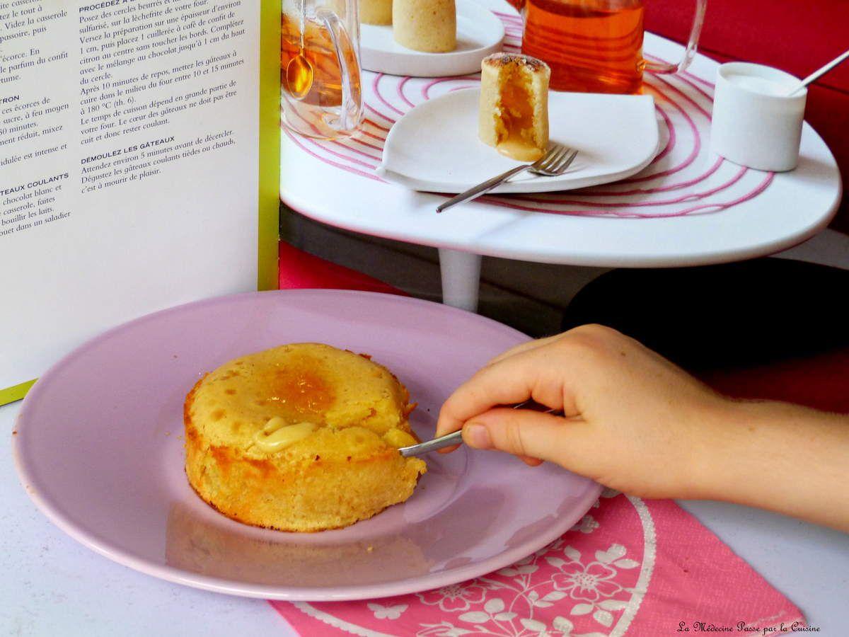 Gateau coulant chocolat blanc et citron de Philippe Conticini