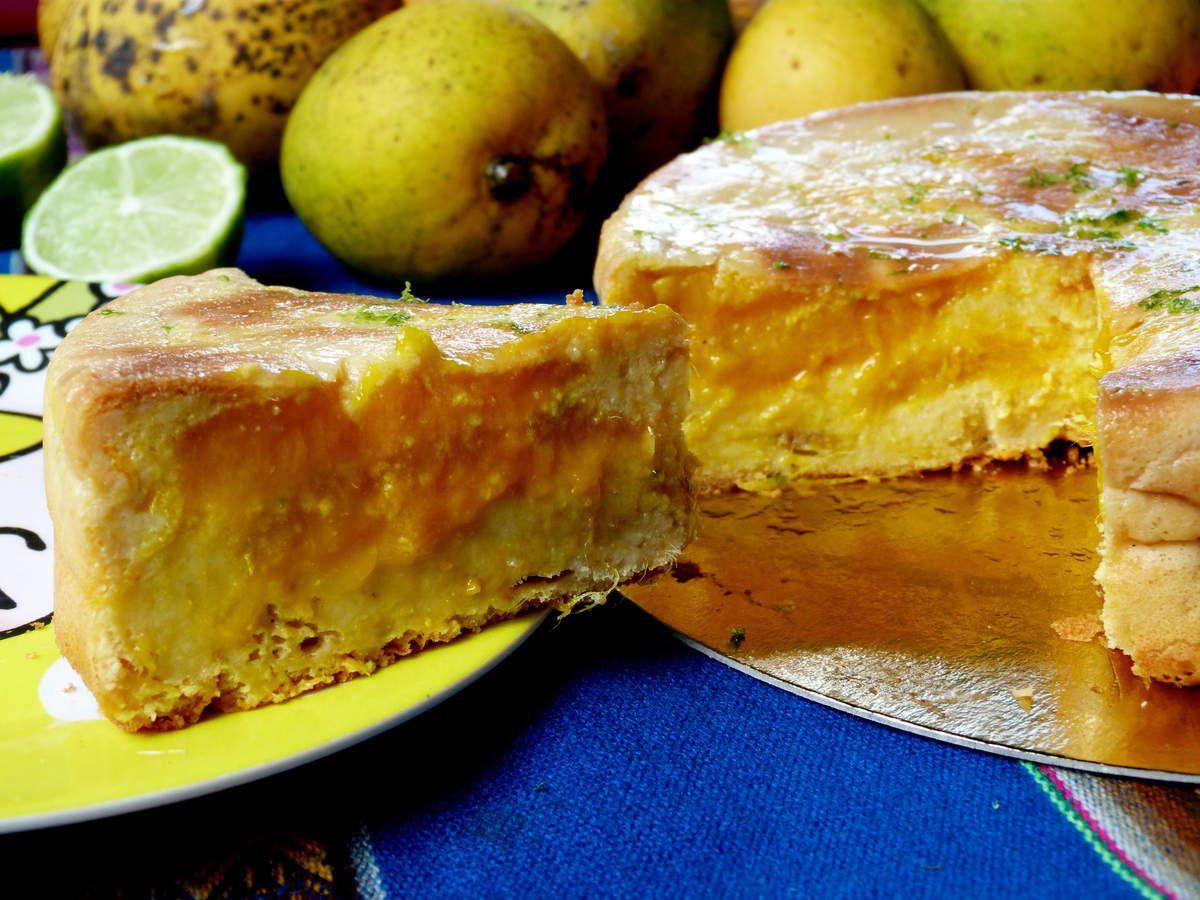 Gâteau invisible à la mangue, coco et citron vert