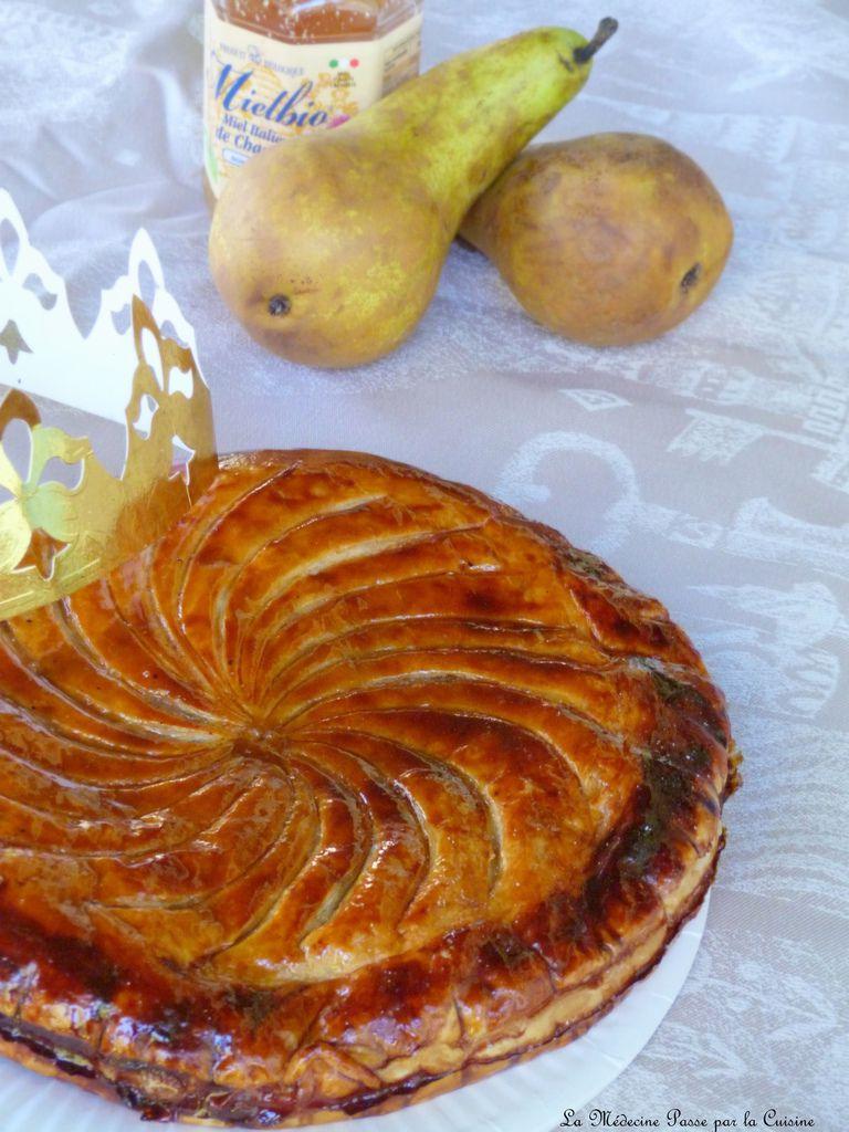 """Galette des rois des """"oursons"""" : poires, noisettes et miel de citronnier de Rigoni"""
