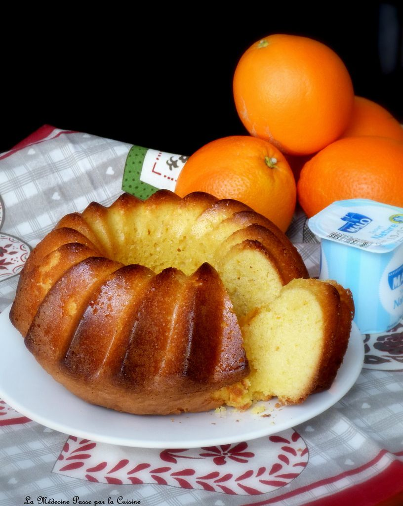 Gâteau au yaourt à l'orange