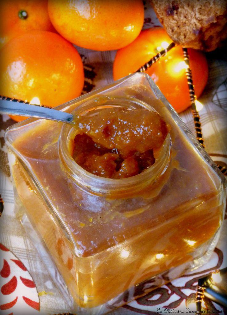 Confiture comme une nonnette à l'orange et au pain d'épices pour la Saint Nicolas