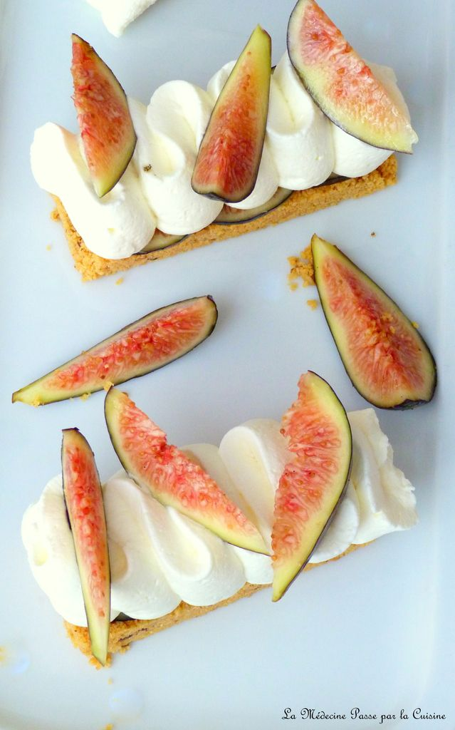 Fingers figues et chantilly de feta
