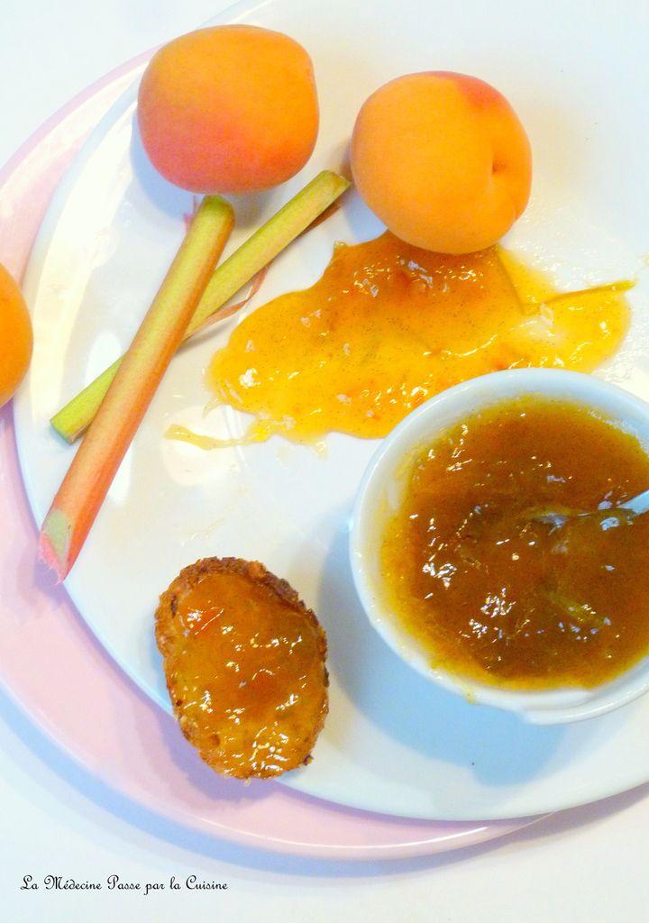 Confiture de rhubarbe, abricot et vanille